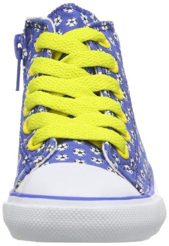 EB kids Fly High Kids 671038 - Zapatillas de lona para unisex-niño, color azul, talla 20 Azul (Blau (Blau/Weiß))