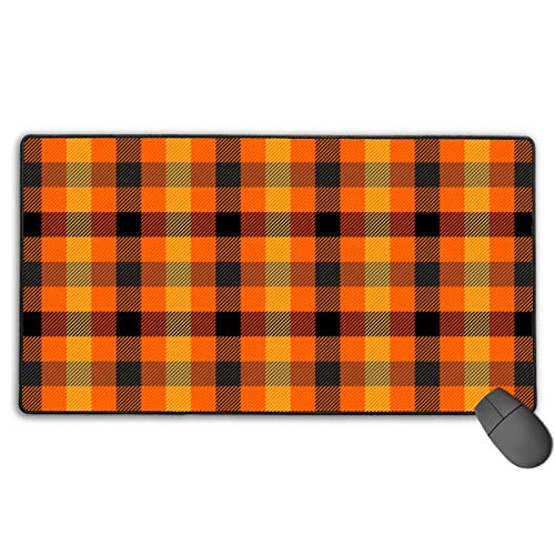 Makayla Riley Halloween Tartan Plaid Scottish Cage Background Custom Mouse PadNon-Slip Mice Gaming Mouse Pad Mousepad Desktop Fantasy Mouse Pad Computer Accessories,Environmental Non-Toxic ()