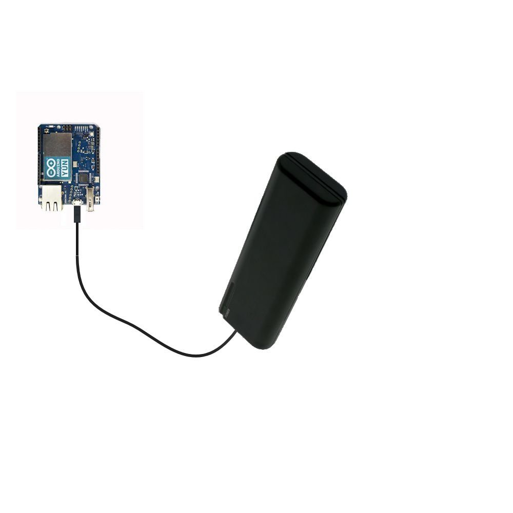 Portable Emergency AA Battery Charger Extender suitable for the Arduino YUN - with Gomadic Brand TipExchange Technology