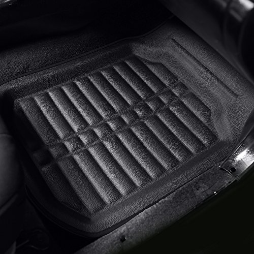 FH Group F14409SOLIDBLACK-FRONT-AVC Floor Mat (Front Set Only Solid Black s Deep Tray All Weather)
