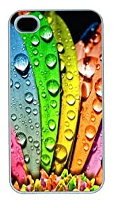 Drop Colours Polycarbonate Hard Case Cover for iPhone 4/4S White