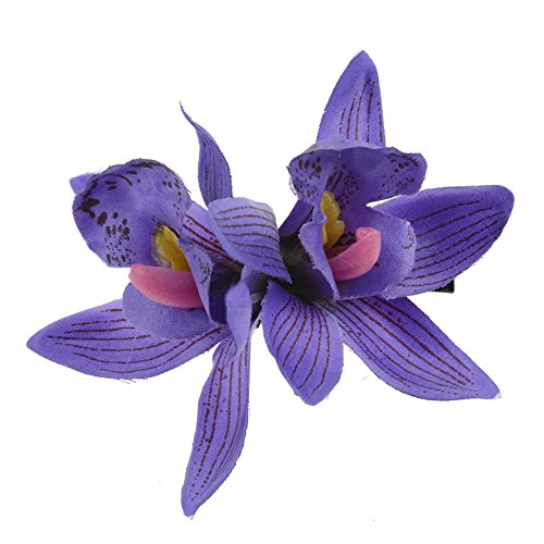 (CHUANGLI Women Girls Charming Double-Orchid Flower Hair Clips Hawaiian Hair Pin Headdress)