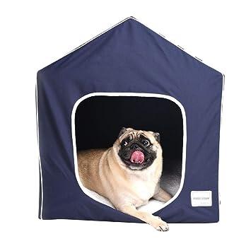 JEELINBORE Casa Plegable para Mascotas Cama Lavable para Gatos Caseta de Perro (Azul, S: 45 * 38 * 51cm): Amazon.es: Hogar