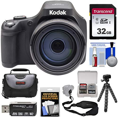 KODAK PIXPRO AZ901 90x Astro Zoom Digital Camera (Black) with 32GB Card + Case + Tripod + Strap Kit