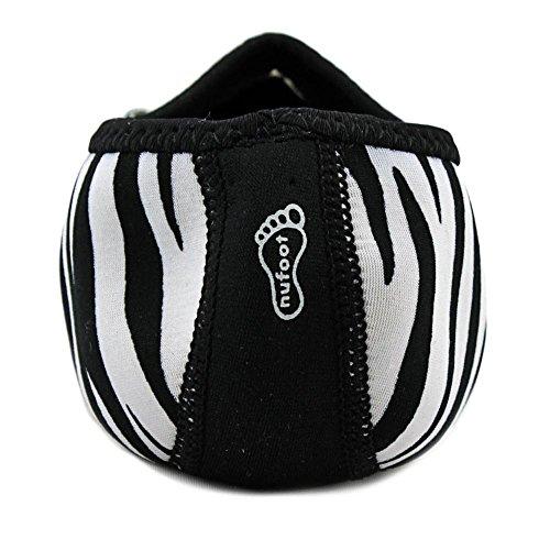 Nufoot Mary Janes Zapatos De Mujer, Mejores Planos Plegables Y Flexibles, Zapatos De Viaje Y Ejercicio, Zapatos De Baile, Calcetines De Yoga, Zapatos De Interior, Pantuflas White Zebra