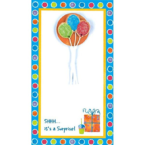 Surprise Balloon Imprintable Invitations | Pack of 8 | Party Supply ()