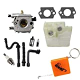 HURI Carburetor with Gasket Air Filter Fuel Filter Fuel Line Oil Line Spark Plug for Stihl 024 026 MS240 MS260 1121 120 0611
