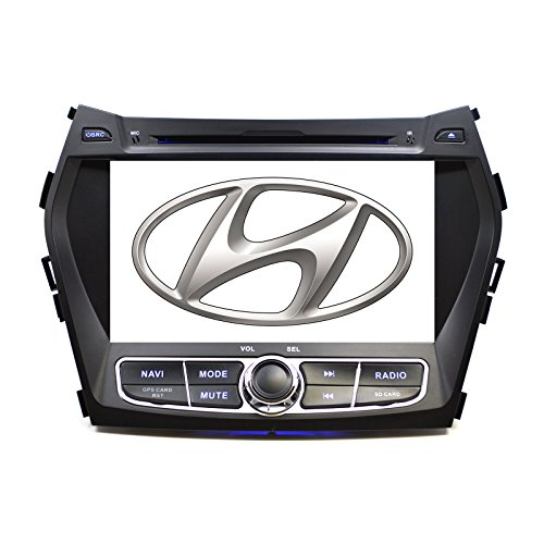 OttoNavi In Dash OE Fitment Direct and Play Navigation GPS CD DVD Player Radio Stereo for 12-15 Hyundai Santa Fe