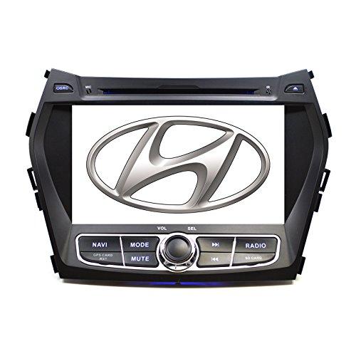 In Dash OE Fitment Direct Plug and Play Navigation GPS DVD/CD Bluetooth Radio for Hyundai Santa Fe 2013-2017