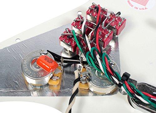 Burns London Mini Tri-Sonics Brian May Loaded Pickguard Chrome Parchment by Lace (Image #4)
