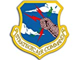 usaf decals - American Vinyl Shield Shaped USAF Strategic Air Command Sticker (air Force Military)