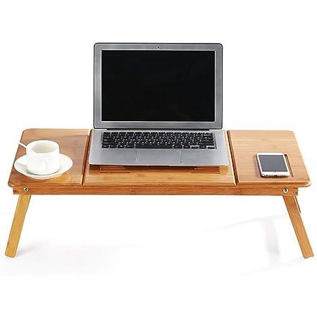 Escritorio portátil con soporte portátil Mesa portátil de bambú ...