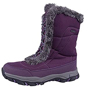 Mountain Warehouse Ohio Women's Snow Boot -, Textile Upper with Durable & Breathable Isotherm Lining, Rubber Outsole - Designed for Superior fit and Comfort