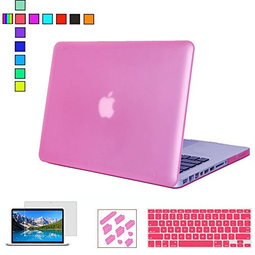 RYGOU 15 Inch Macbook Pro Case,4 in 1 Matte Hard Case with Keyboard Cover Screen Protector Anti-dust Plug for Macbook Pro 15.4