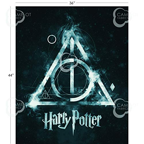 - Harry Potter Wizarding World Deathly Hallow Panel Cotton Fabric 36 X 44