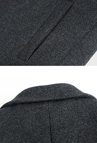 Men's Trench Wool Men Autumn Gentleman Woolen Coat And Thickening Jacket Section Black Long Collar Winter Suit 7P6dg7q