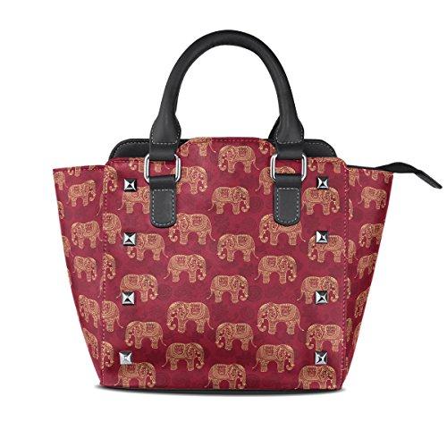 poignée Femmes Elefants Cuir Sac Multicolore Fourre Stylisées Coosun Bandoulière Motif En Main Elephant Pu Sacs tout À Moyen Haut q7Hdxd