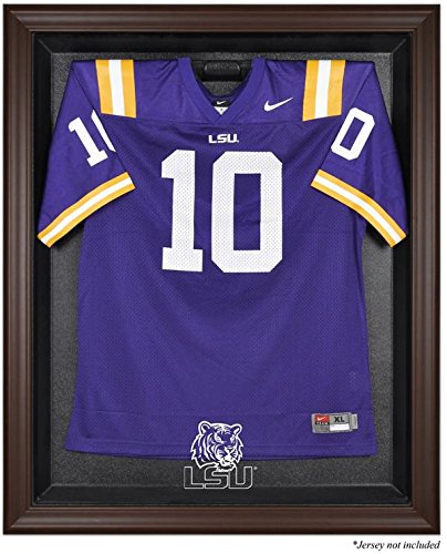 LSU Tigers Brown Framed Logo Jersey Display Case by Mounted Memories