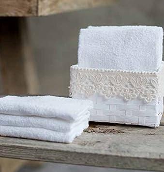 Korb Für Gästehandtücher gästehandtücher korb mit servietten romantische shabby chic 30 x
