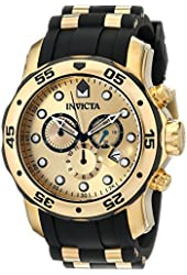 Invicta Men's 17885 Pro Diver Ion-Plated Stainless Steel Watch with Polyurethane Band
