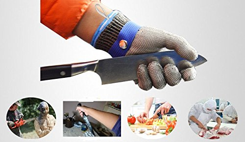 Size L Safety Cut Proof Stab Resistant Glove,Stainless Steel Metal Mesh Butcher Glove, High Performance Level 5 Protection Glove by Debris time (Image #6)