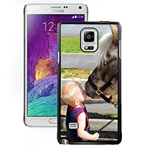 New Personalized Custom Designed For Samsung Galaxy Note 4 N910A N910T N910P N910V N910R4 Phone Case For Baby Kissing A Horse Phone Case Cover