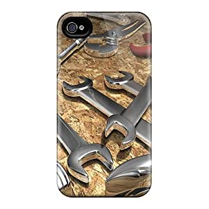 High Quality Shock Absorbing Case For Iphone 4/4s-large 3d Design 75
