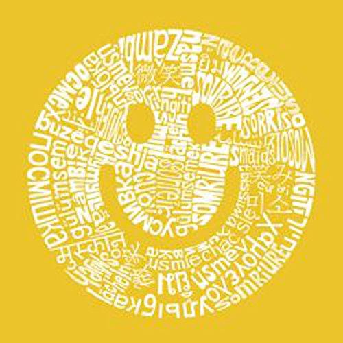 Smile Different Languages by L.A. Pop Art Typography Smiley Face Poster (Choose Size of (Smiley Face Posters)