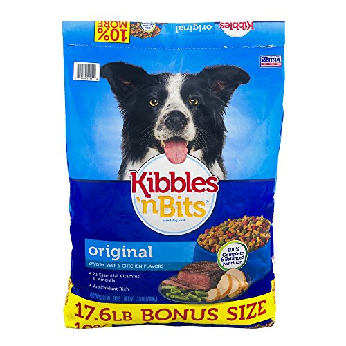 Kibbles 'n Bits Original Savory Beef and Chicken Dry Dog Food (17.6 Lb) Made in USA