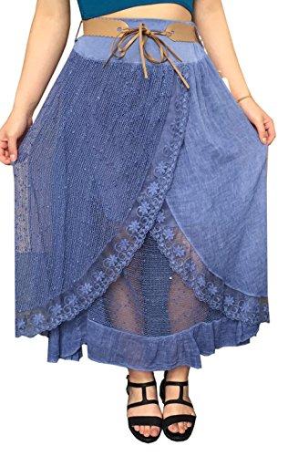AHR - Falda - para mujer Azul