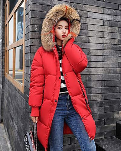 Long Winter Shaoyao Capispalla Rosso Women Down Overcoat Parka Addensare Coat Warm Jacket Imbottito BCXaw