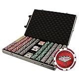 1000 Ct Las Vegas 14 gram Poker Chip Set in Rolling Aluminum Case