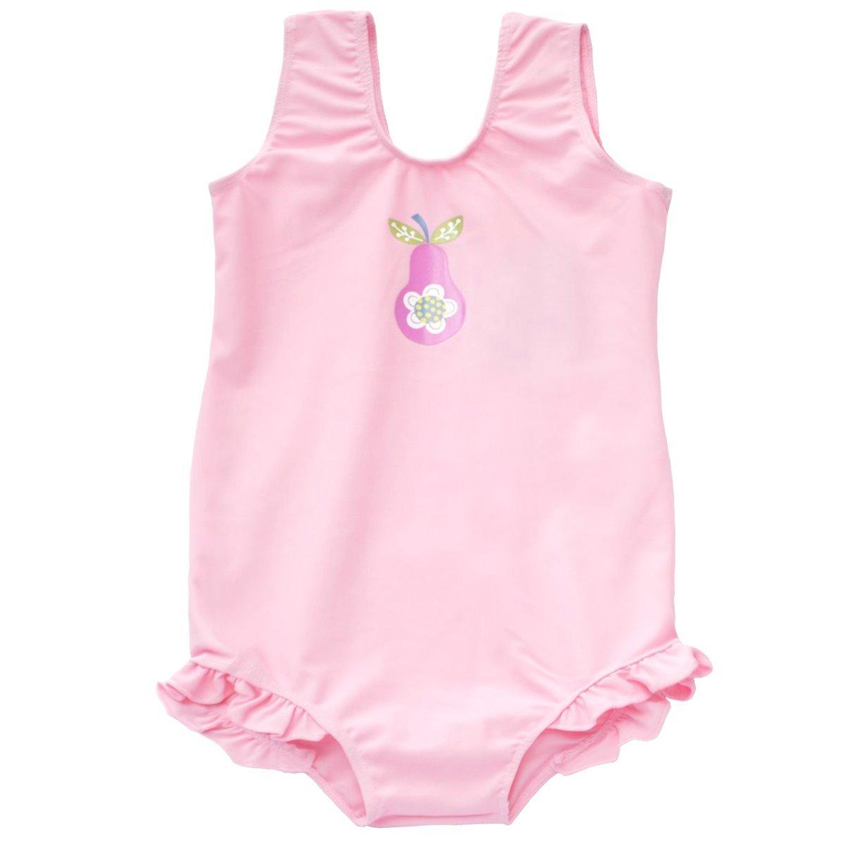 Splash About, Costume da bagno con balze Bambina, (Rose - Funky Flamingo), 1-2 anni