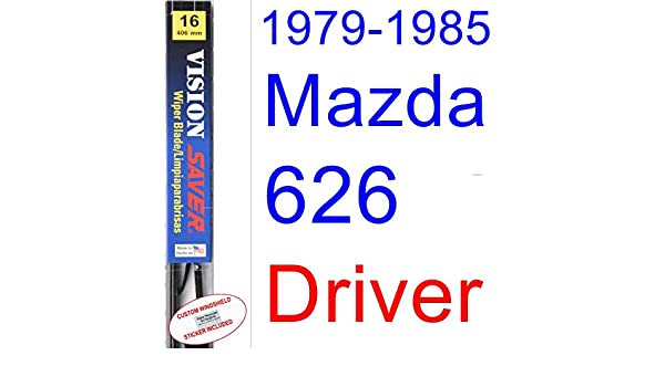 Amazon.com: 1979-1985 Mazda 626 Wiper Blade (Driver) (Saver Automotive Products-Vision Saver) (1980,1981,1982,1983,1984): Automotive