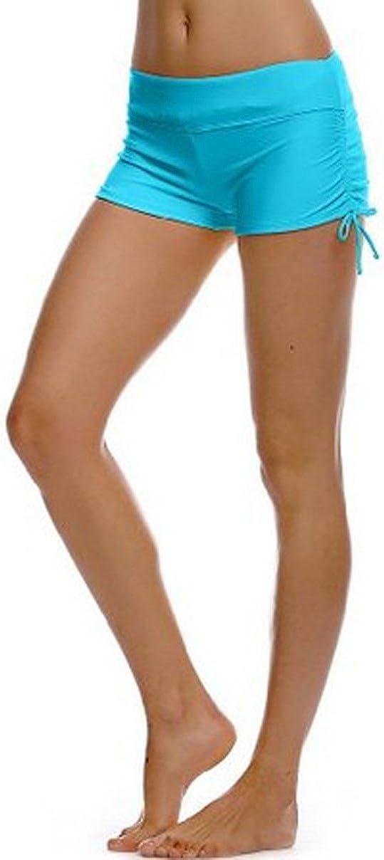 iMixCity Shorts de Nataci/ón para Deportes Acu/áticos para Mujer Bikini Bottoms Traje de Ba/ño Pantalones Cortos de Protecci/ón UV con Cordones Ajustables