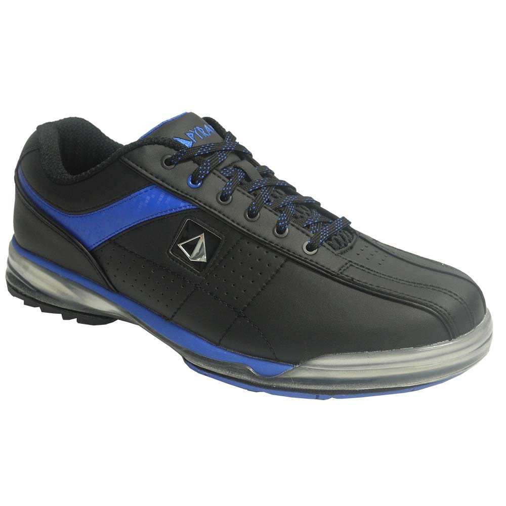 Pyramid Mens HPX High Performance Right Handed Bowling Shoes Black/Blue