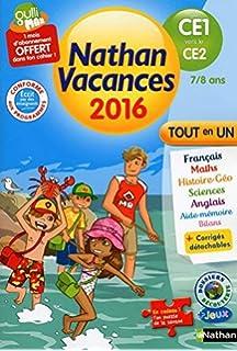 Nathan vacances du CE1 vers le CE2 7/8 ans by Pierre Colin (2016