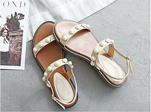 Flip White Casual pit4tk Plus Woman Sandals Summer Size Flat Comfortable Sandals Flops Shoes Wedge Bohemia Women SSIxwqTFZ