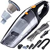 #6: MATCC Corded Car Vacuum,DC 12V 110W 5500PA High Power Stronger Suction Car Vacuum Cleaner,Cyclonic Powerful Suction,Stainless Steel HEPA Double Filtration with 16.4FT(5M) Stronger Power Cord