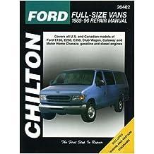 CH26402 Chilton Ford Full Size Vans Motor Homes 1989-1996 Repair Manual