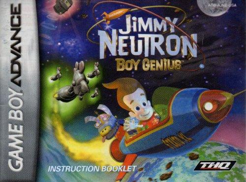 (Jimmy Neutron Boy Genius GBA Instruction Booklet (Game Boy Advance Manual only) (Nintendo Game Boy Advance)