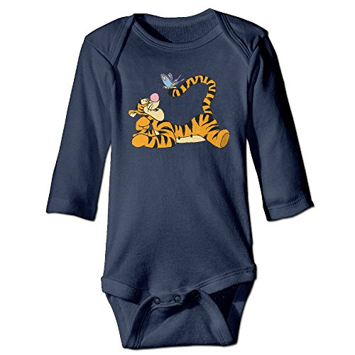PTCY Pooh Bear With Tigger Butterfly For 6-24 Months Newborn Romper Outfits 18 Months Navy