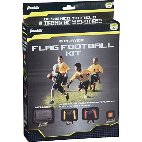 Franklin Sports Youth 8 Player Flag Football Kit