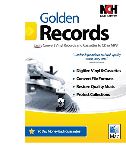 Price comparison product image Golden Records Software for Converting Cassette Tapes and Vinyl to Mp3/Digital [Download]