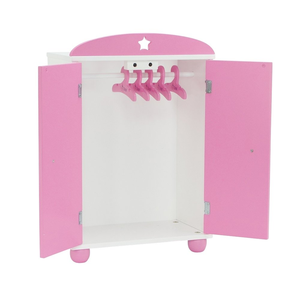 Incroyable 14 Inch Doll Furniture | Beautiful Pink And White Armoire Closet With Star  Detail Comes With 5 Doll Clothes Hangers | Fits American Girl ...