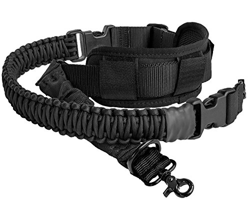 LANHE TACTICAL 550 Paracord 2 Point Rifle Sling Gun Strap with Shoulder Pad Adjustable Longest 66inch ()