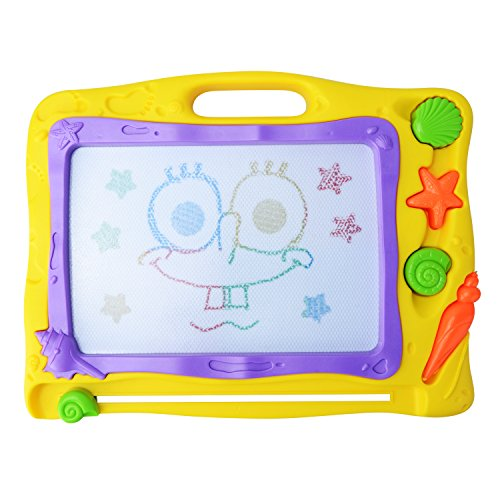 MOOBOM Doodle Sketch Learning Toy Erasable Colorful Exact Large Magnetic Drawing Board,A Great Gift