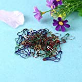 LOCHI 100pcs/box Mixed Color Safety Pins Calabash Gourd Shape Safety Pin Markers Pins Craft Sewing Knitting Stitch Holder Accessories