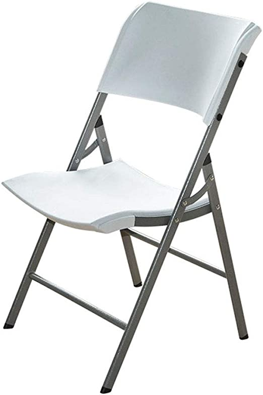 Sillas plegables Silla plegable de plástico Taburete plegable portátil al aire libre Silla de conferencia for el hogar Tienda plegable y fácil lejos (Color : Blanco , tamaño : 87x46x45cm) : Amazon.es: Hogar