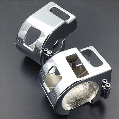 Motorcycle Chrome Switch Housing Cover For 1999-2008 Kawasaki Vulcan 1500 1600 All Models - Motor Housing Cover